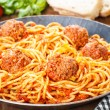 Pasta and Meatballs — Stock Photo