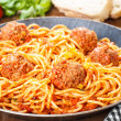 Stock Photo: Pasta and Meatballs