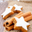 Xmas cinnamon cookies — Stock Photo