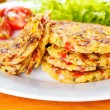 Veggie fritters — Stock Photo