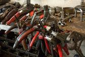 Molti strumenti sporchi — Foto Stock