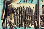 Tools used at a flea market sale of the land — Stock Photo