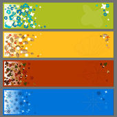 Backgrounds for banners in seasonal set. — Stock Vector