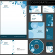 Corporate identity template. — Stock vektor