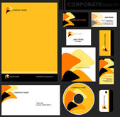 Corporate identity template. — Stock Vector