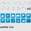 Set of weather icon — Stock Vector