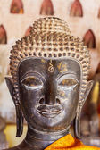 Head of buddha of wat sisaket at vientiane — Stock fotografie