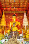 Principle buddha image in wat sisaket temple at chiangmai — Stock Photo