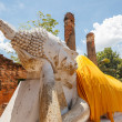 Stock Photo: Blue sky buddhwat yai chai mong kon ayutthaya