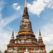Stock Photo: Blue sky background buddhwat yai chai mong kon at ayutthayth