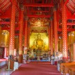 Stock Photo: Room inside of pagodfor ceremonial buddhist at temple