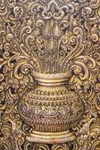 vase thai style art  on temple for background — Stock Photo