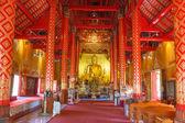 Místnost uvnitř pagoda pro ceremoniální buddhistického chrámu — Stock fotografie