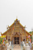 Reconstruct temple chiangmai isolated background — Stock Photo