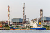 The morning petroleum and oil refinery  factory — Stockfoto