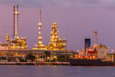 Petroleum and oil refinery — Stock Photo