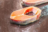 Salmon for cook — Stock Photo