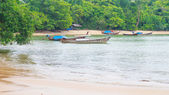 Fishing boat of people thailand at krabi  — Foto Stock
