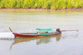 Fishing boat for travel of people thailand — Foto Stock