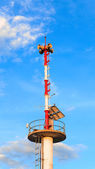 Tower signal warn tsunami — Stock Photo