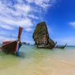 Boat for travel railay island at krabi — Stock Photo