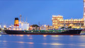 Cargo transport  with chemical pipeline — ストック写真