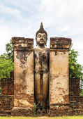Buddha architecture of history at sukothai thailand  — Stockfoto