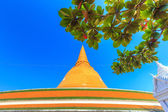 Gold pagoda phra pathom chedi — Stock Photo