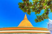 Gold pagoda phra pathom chedi — Stock Photo