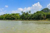River nature with mountain ,kanchaburi thailand — Stock Photo