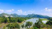 Вид сверху горы, kanchaburi Таиланд — Стоковое фото