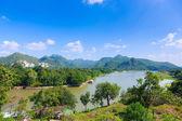 River kwai background mountain ,kanchaburi thailand — Photo
