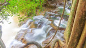 Top view hot waterfall  at province south krabi thailand — Stock Photo