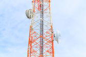 Tower with antennas of cellular communication at thailand — ストック写真