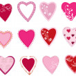 Stock Vector: Heart set