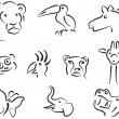 Animal icons set 3 — Stock Vector
