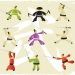 Martial arts icons — Stock Vector