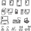 Stock Vector: Icons - Electronics