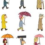Rainy Day — Stock Vector