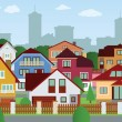 Stock Vector: Suburbhouses