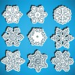 Stock Vector: Hand drawn snow flakes collection