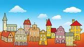 Stare miasto dekoracje — Wektor stockowy