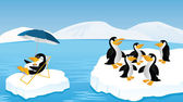 Roliga pingviner — Stockvektor