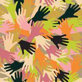Hand texture — Stock Vector