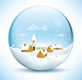 Christmas Sphere Scenery — Stock Vector