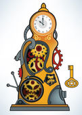 Zaman makinesi — Stok Vektör