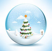 Christmas Sphere - Tree — Stock Vector