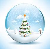 Christmas Sphere - Tree — Stock Vector
