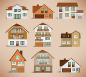 Townhouses (retro colors) — Wektor stockowy