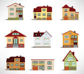 Collection of urban houses — Stock Vector